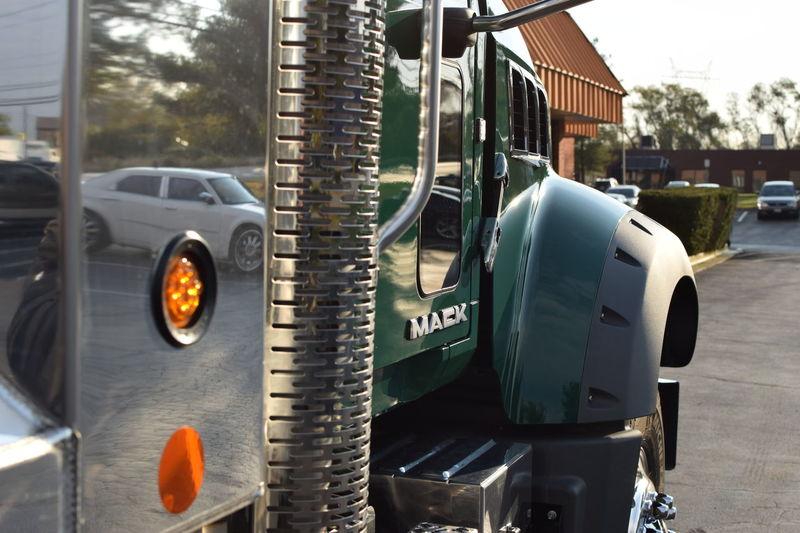 Big Rig Bulldog Chrome Dump Dump Truck Mack Transportation Truck