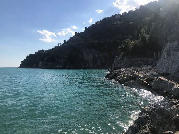 Cetara Italy Travel Destinations Photography Water Sky Beauty In Nature Tree Sea Scenics - Nature Tranquility Tranquil Scene Cloud - Sky Turquoise Colored Nature