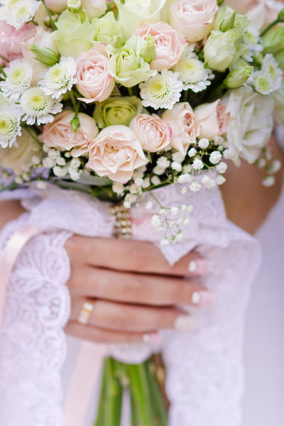 Bouquet Bride Celebration Celebration Event Ceremony Close Up Freshness Happiness Holding Human Body Part Human Hand Life Events Wedding Wedding Ceremony Wedding Dress Wedding Ring Wedding Ring Photography Women Women Hand Market Bestsellers Bestseller  Market Bestsellers 2016 Wedding Photography