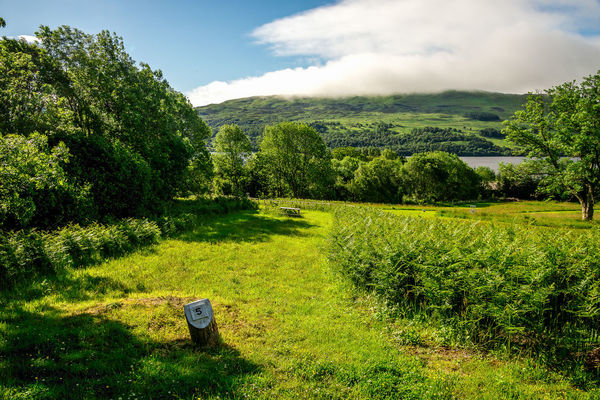 A scenic view from disc golf course hole number five at Loch Tay Highland Lodges village, central Scotland Family Golf Loch Tay Nature Panorama Scotland Scottish Tourist Attraction  Trees Activity Cloud - Sky Course Disc Fairway Flying Green Grass Highlands Lake Lake View Landscape Play Scenic View Sports Travel Destinations Visit