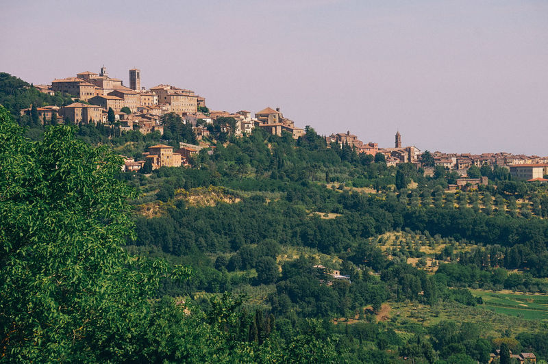 Tuscany Tree Architecture Plant Built Structure Sky Building Exterior Green Color Nature No People Day Growth Beauty In Nature Mountain Building Clear Sky Outdoors The Past History Scenics - Nature City Europe Village Village Photography