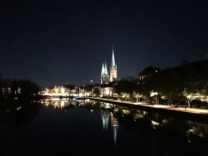 In the Night Night Reflection Architecture Water Schleswig-Holstein Germany 🇩🇪 Deutschland Selfmade History Mobility In Mega Cities HUAWEI Photo Award: After Dark