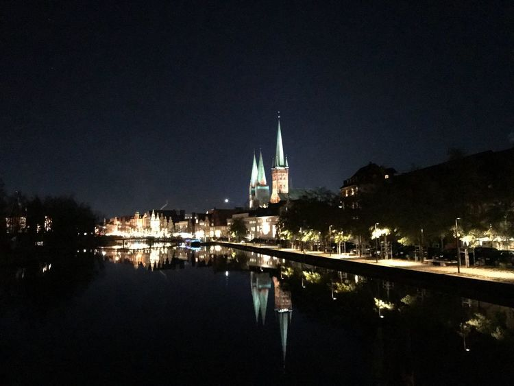 In the Night Night Reflection Architecture Water Schleswig-Holstein Germany 🇩🇪 Deutschland Selfmade History Mobility In Mega Cities