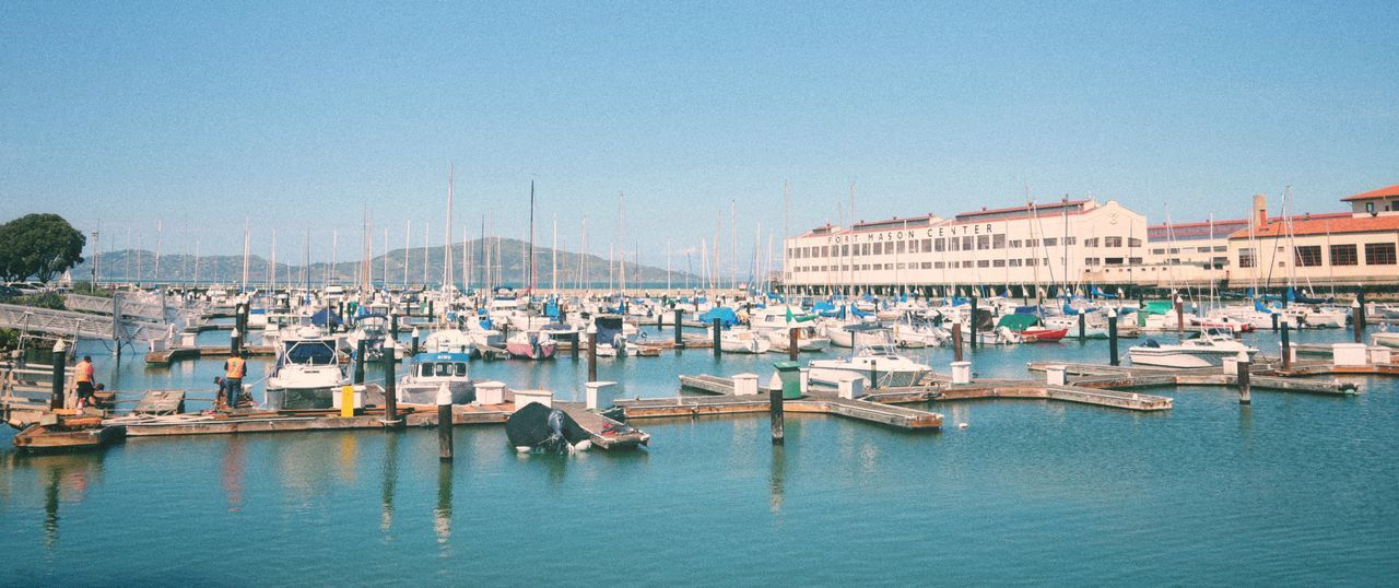 Yacht harbor near Fort Mason Californication California Dreamin California Fort Mason Marina Sunnyday Boats Piers Yacht Club Yacht Harbor Yachting Yachts San Francisco EyeEm Selects Mode Of Transportation Transportation City Harbor Sailboat Sky Sea Waterfront Day Clear Sky Travel Travel Destinations No People First Eyeem Photo