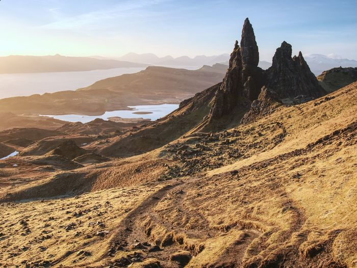 Hiking at the old man of storr. the old man of storr is one of most photographed wonders in world