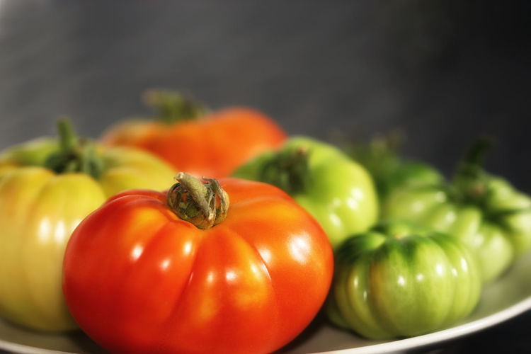 Close-Up Of Tomatoes In Plate