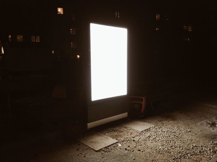 Architecture No People Indoors  Built Structure Illuminated Wall - Building Feature Window Lighting Equipment Copy Space Building Flooring Light - Natural Phenomenon Night Abandoned White Color Blank