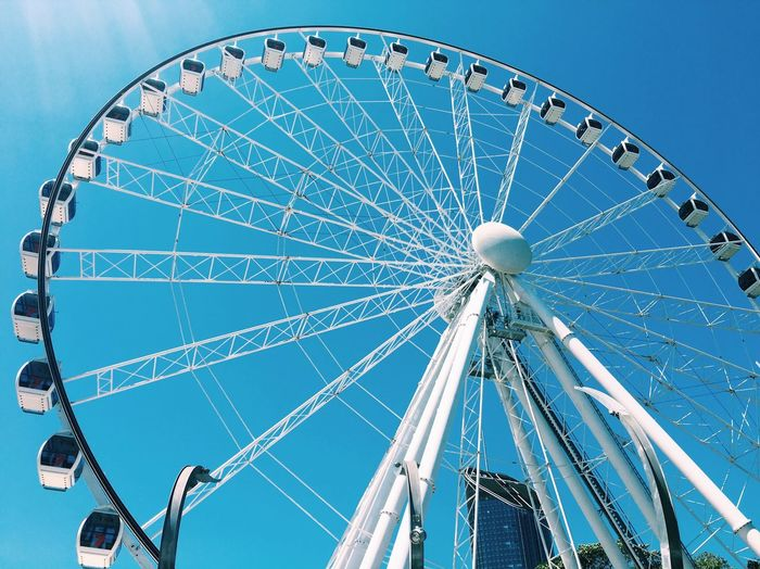 Low Angle View Of Wheel Of Brisbane Against Clear Sky