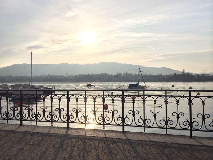 Zürich Zürichsee Hometown Sunny Day Lovecity  Switzerland Sun Pier Boots