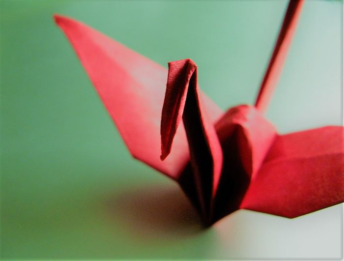Art And Craft Close-up Day Green Color Indoors  Japan Japanese Culture Japanese Paper No People Origami Origamicrane Paper Red Color