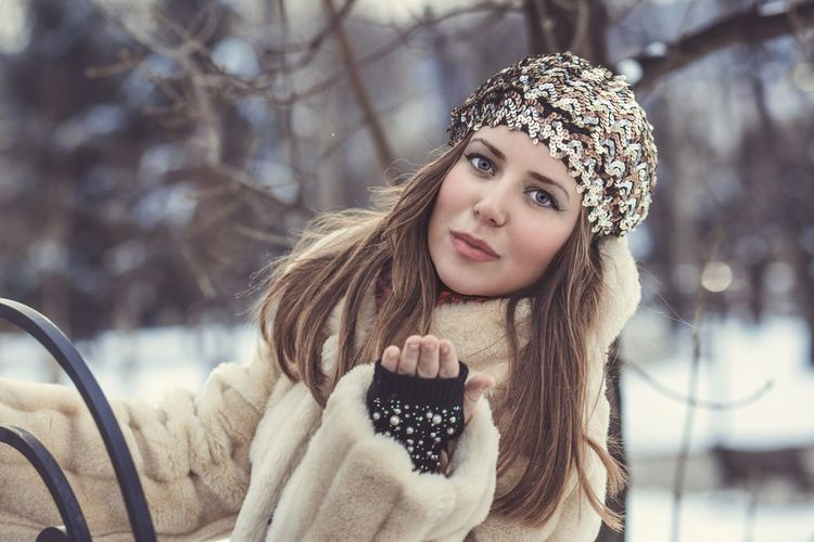 Katarina Portrait One Person Winter Hair Cold Temperature Warm Clothing Long Hair Clothing Looking At Camera Young Adult Beautiful Woman Focus On Foreground Hairstyle Beauty Young Women Women Front View Brown Hair Snow Outdoors Scarf