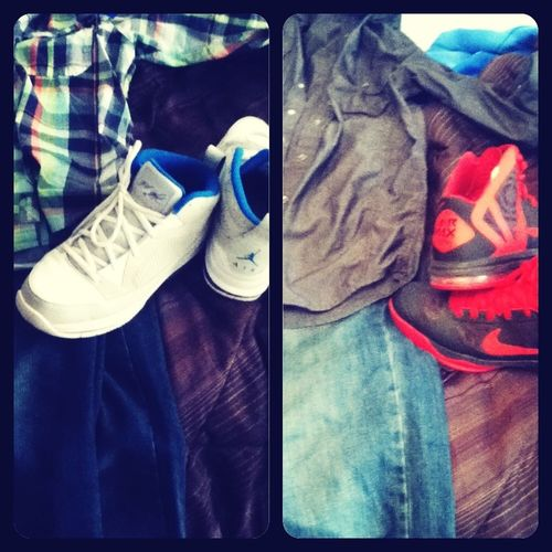 Multi-color button-up Levis and Jordan Flight 9 orrrrrr Gray Levis Button-up Levis and Hyper Aggressors