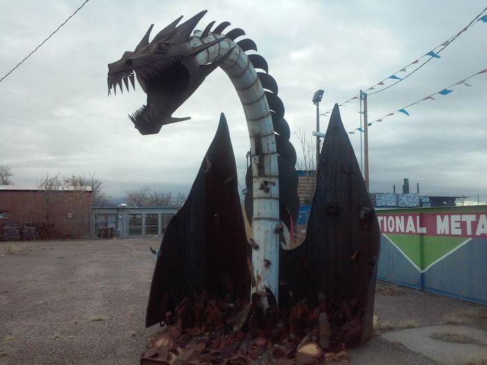 Dragon Scupture Art Heavy Metal Belin New Mexico Raww