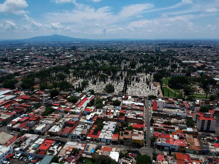 Cementery Dronephotography Drone  Jalisco Guadalajara City Building Exterior Architecture Cityscape Built Structure Sky Building High Angle View Cloud - Sky Aerial View No People Day Outdoors