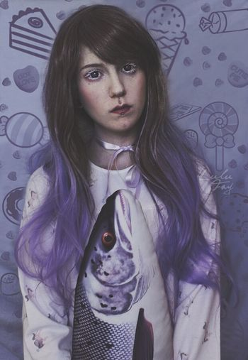 Doll Wig Dollface Purple Purple Hair Purplehair BrownHair Baby Babygirl Sweetiepie