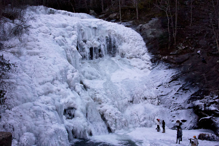 Frozen Bald River Falls Side View Bald River Falls Beauty In Nature Cold Cold Temperature Day Frozen Frozen Bald River Falls Frozen Water Frozen Waterfall Ice Motion Nature Outdoors People At Waterfall Real People Scenics Water Waterfall Winter