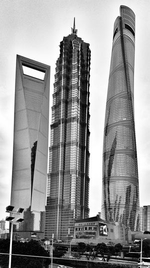 The three towers City Skyscraper Modern Sky Architecture Built Structure Tower Office Building High Rise