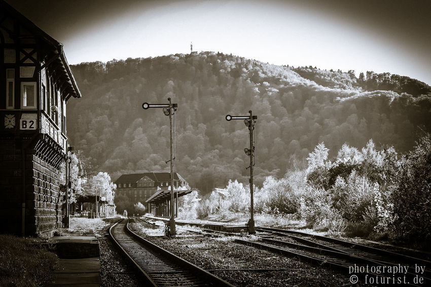 Bahnhof Foturist Harz Harzbilder Nature Outdoors Rail Transportation Railroad Track Thale Transportation