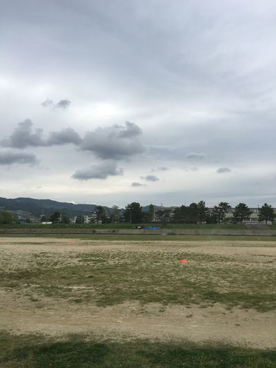 Riverside 宝塚 Takarazuka 武庫川 Cloud - Sky Sky Plant Nature Day Environment Landscape Field No People Outdoors Grass