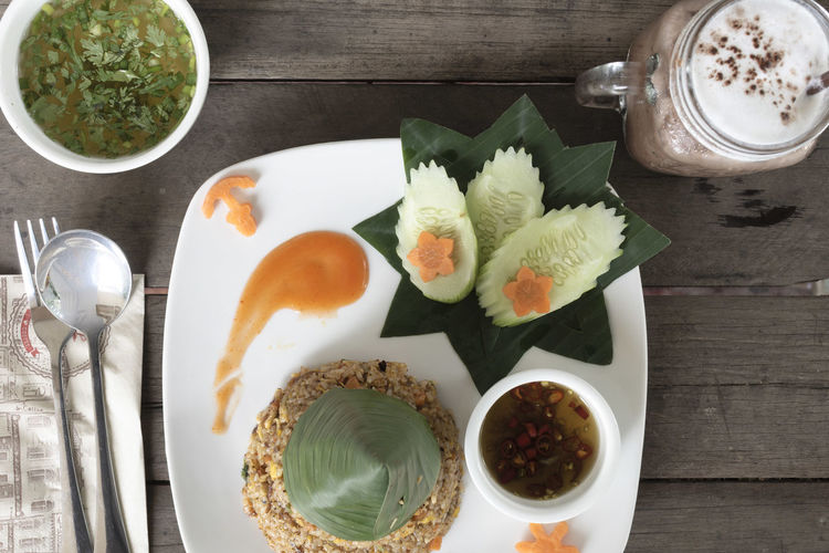 Fried-rice is one of the common fast food in Southeast Asia. Asian Food Drink Drinking Glass Fastfood Food Food And Drink Food Stories Freshness Friedrice Healthy Eating Ready-to-eat