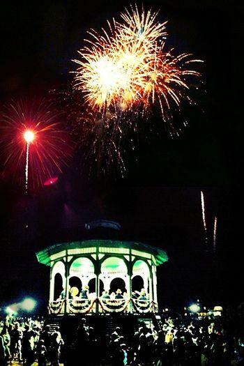 fireworks over Oak Bluffs at Oak Bluffs Fireworks Over Oak Bluffs