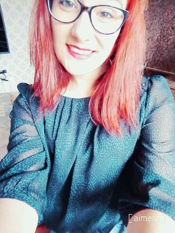 Glasses Selfie Girl Pelirroja Girltumblr Enllamas Fashiongirl  Tumblrgirl Redhair Lipstick Tumblr Fashion Make Up