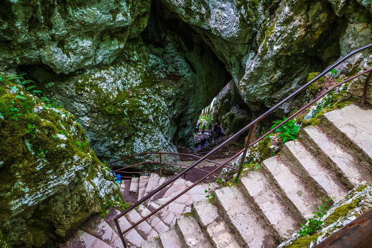 Plitvice Lakes National Park, Croatia, is a waterfall lovers paradise. Beauty In Nature Croatia Day Diminishing Perspective Footpath Green Green Color Growth Nature No People Outdoors Plant Plitvice National Park Scenics Stairs Stairs Steps The Way Forward Tranquil Scene Tranquility Tree Walkway