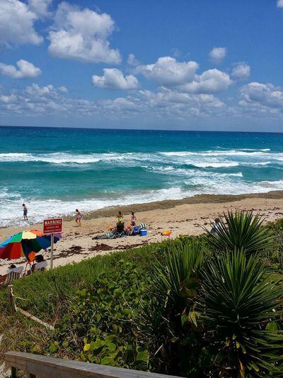 Outdoors Palm Beach Island, Florida Flora Sun Bright Beachphotography Beach Life Mother Ocean Water Wave Sea Beach Sand Sky Horizon Over Water Cloud - Sky Seascape Ocean Coastal Feature Surf Tide Crashing Summer Exploratorium