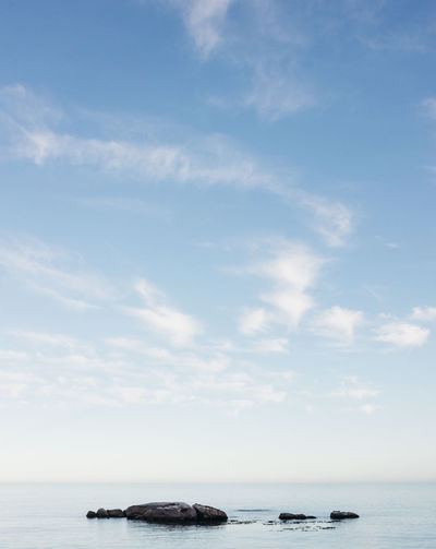 As minimal as it comes. Calm Love Peace Beauty In Nature Beauty In Nature Blue Blue Sky Cloud - Sky Day Horizon Over Water Jonnynichayes Minimalism Nature No People Ocean Outdoors Popular Photos Rocks Rocks And Water Scenics Sea Sky Tranquil Scene Tranquility Water