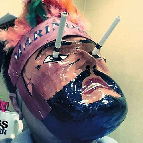 Good times with this mask! Good Vibes :) Moriones Festival Marinduque,Philippines Just Kidding Around