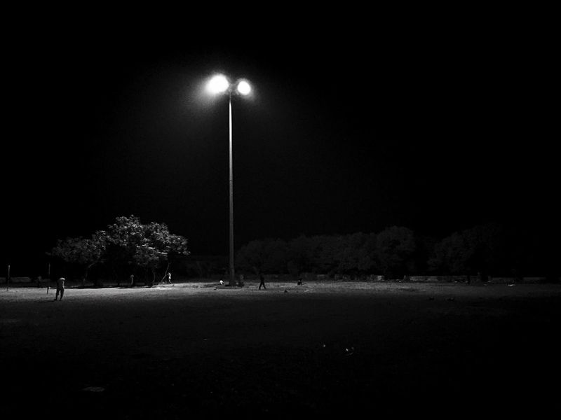 Night light Night Street Light Lighting Equipment Illuminated Outdoors Tree No People Nature Sky IPhoneography Iphonephotography Blackandwhite Photography Black And White Blackandwhite