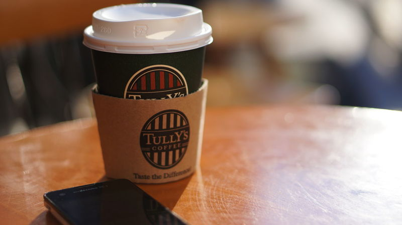 いつもの 2016.1.24 50mmF1.8 Bokeh Cafe Coffee Tully's Tully's Coffee