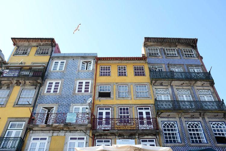 Porto - La Ribeira Porto Porto Portugal 🇵🇹 Ribeira Old City Metropolis Architecture Building Exterior Built Structure No People Low Angle View