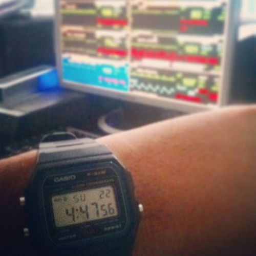 Early Sunday morning.. 4am!..gm to all...happy weekend! Weekend F91w Casio Watchporn Watchfreak Oldisgold ICU Duty