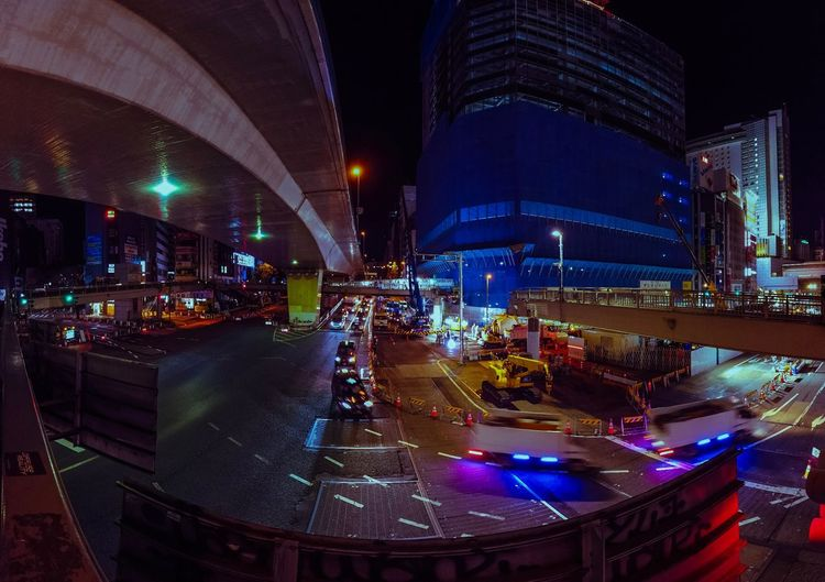 Shibuyascapes Speed Intersection Cars Road Construction Site Development Japan Travel Tech Neon Midnight Osmo Pocket DJI OSMO POCKET Dji Tokyo Technology Japan Shibuya Night Night Illuminated Architecture City Built Structure Building Exterior Cityscape Transportation City Life Street Skyscraper Humanity Meets Technology My Best Photo