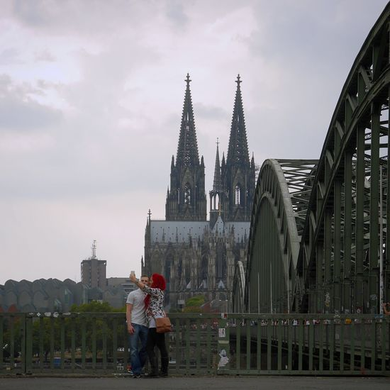 Selfie time... Architecture Travel Destinations City Outdoors Sky Cultures Embrace Urban Life Enjoy The New Normal Kölner Dom Mobile Conversations