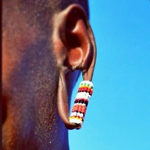 The Maasai Guage Culture ! The only time I can look at stretched earlobes and see beauty!! Biased halfKaleHalfMaasaiChick jewelry AfricanRoots travel photography bodyModification BeadsOnBeadsOnBeads HashtagOverload ImOut