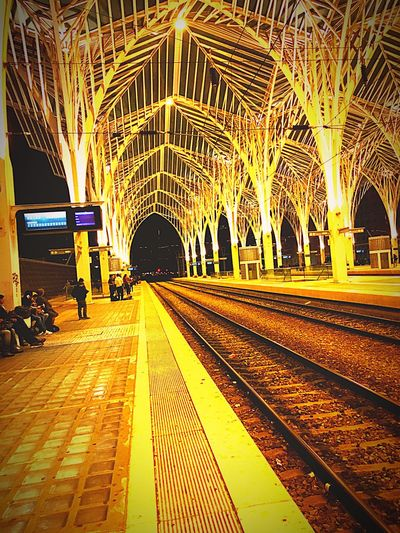 Train Station Train Station By Night Public Transportation City Eye4photography  Taking Photos Nightphotography