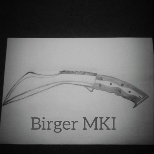 I might never do bladesmithing, but wont stop me from drawing them. Birger MKI , a rough prototype on a chopping knife Knifes Blades Bladesmithing