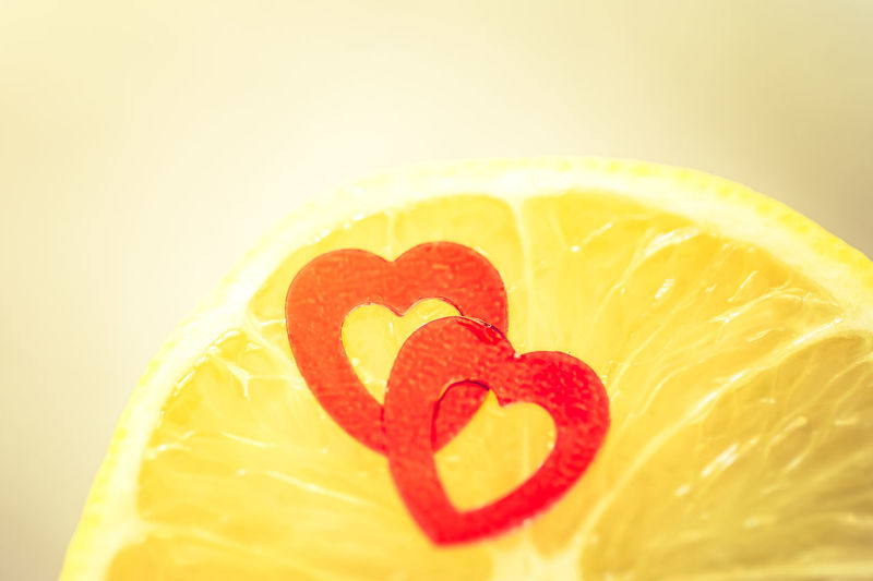 Citrus Fruit Close-up Conceptual Cut Open Food Freshness Heart Shape Lemon Love Macro No People Still Life Sweet And Sour Tart Yellow