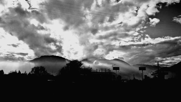 Cloud - Sky Road No People Outdoors Mountain Sky Nature