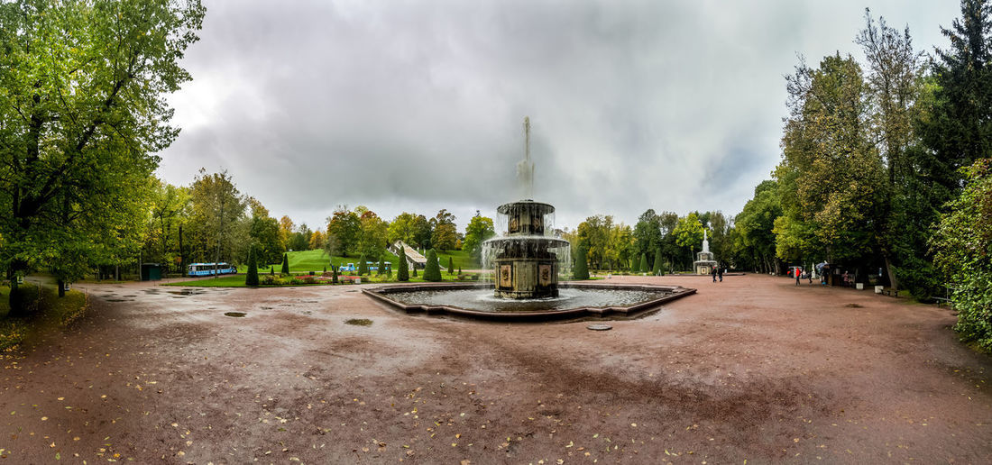 Panoramic view of park against sky