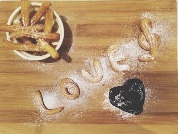 Happy Belated Valentine w/ my homemade churros^^