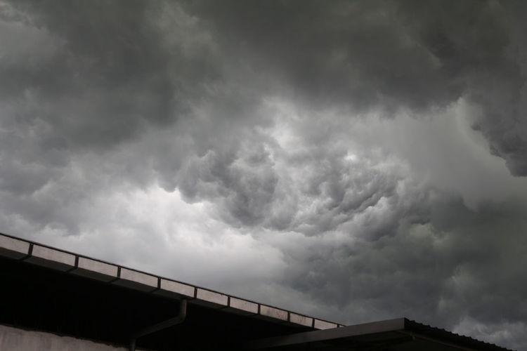 Storm clouds in sky