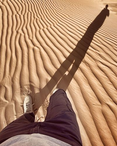 Shadow on the sand dune