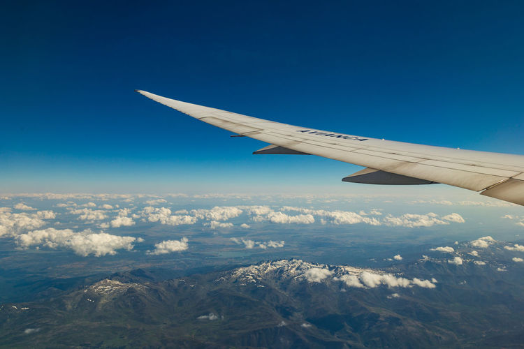 Final del viaje Aerial View Aircraft Wing Airplane Blue Cloud - Sky Flying Scenics - Nature Sky Transportation Travel
