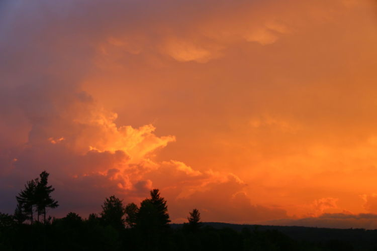 Sunset Thunder Clouds