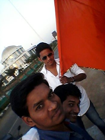 Hello World Best Friends Groufie Great View Enjoying The Sun Peace And Love Happy :) Jai_hind