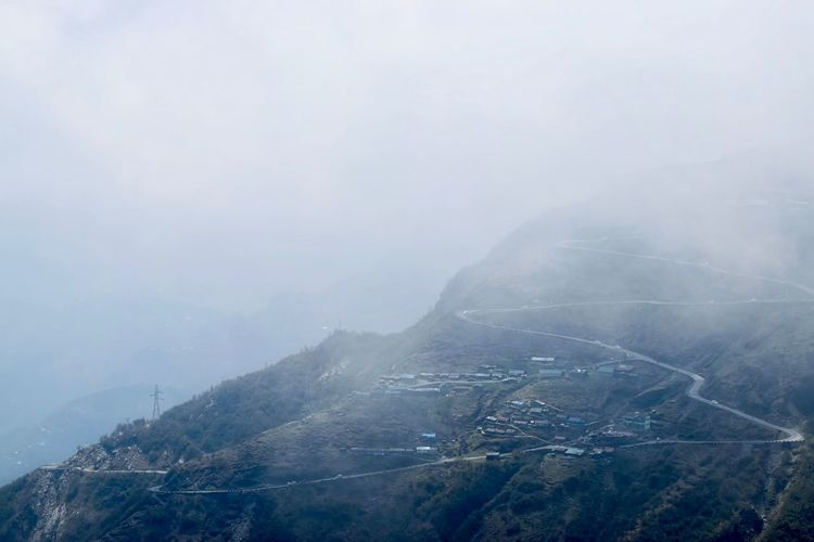 Silk Route Silk Road Beauty In Nature Day Fog Foggy Foggy Day Gangtok Mountain Nature No People Outdoors Scenics Sky