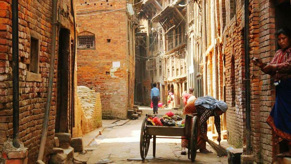 Travel Destinations Adults Only Cultures Adult People Women Outdoors Two People Day Nepal Kathmandu Nepal Backstreets
